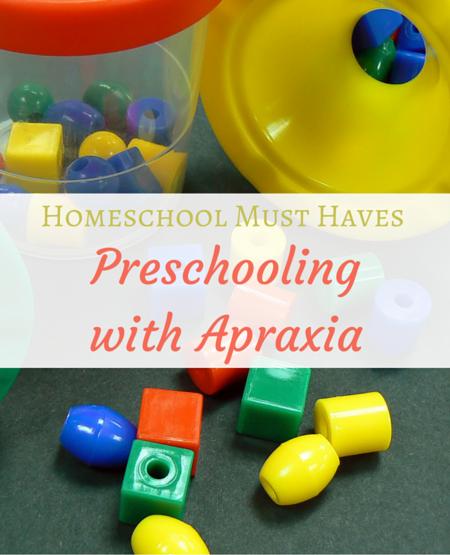 Homeschool Must Haves apraxia preschool