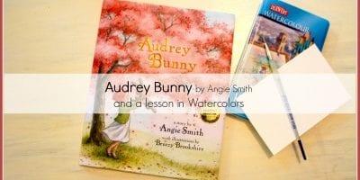 Audrey Bunny review toy watercolor portrait activity