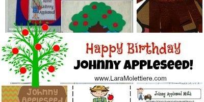John Chapman Johnny Appleseed September birthday unit ideas