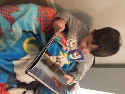 Mr. T reading lucado treasury of bedtime prayers