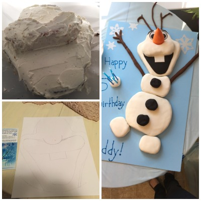 how to make olaf out of fondant