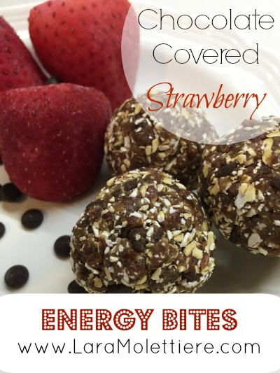 raw chocolate strawberry energy bites