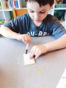 carving stamps with doodle crate