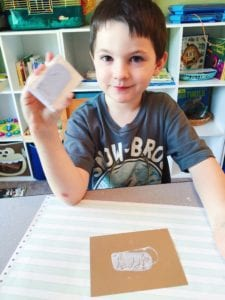 stamp carving with doodle crate