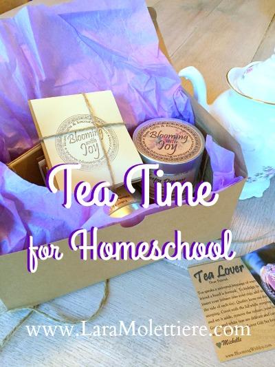 homeschool teatime blooming with joy tea