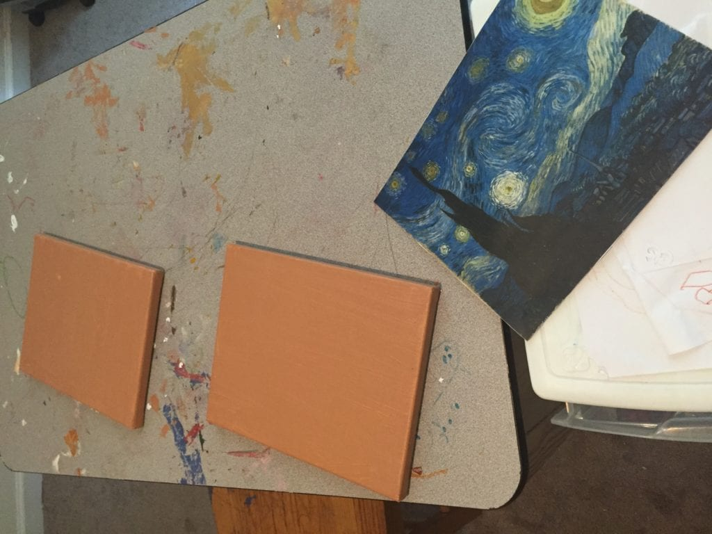 blank canvas for starry night