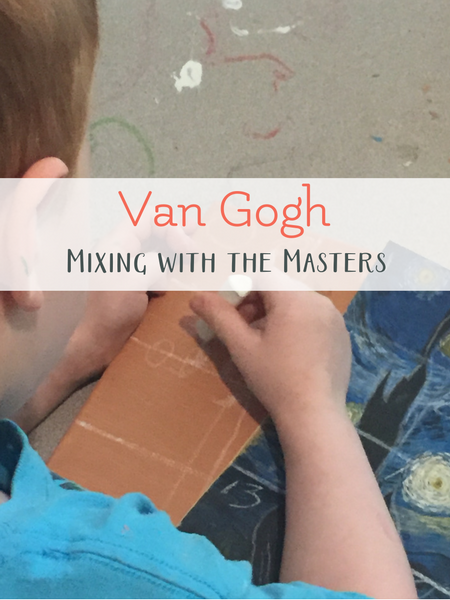 van gogh art project with kids