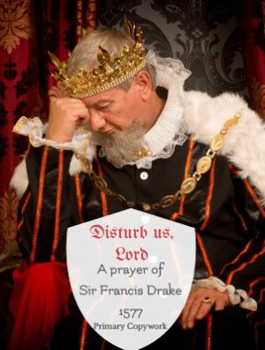 Disturb us, Lord primary lined copywork