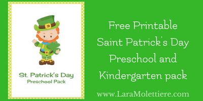 Free Saint Patrick's Day Preschool/Kindergarten Fun Pack