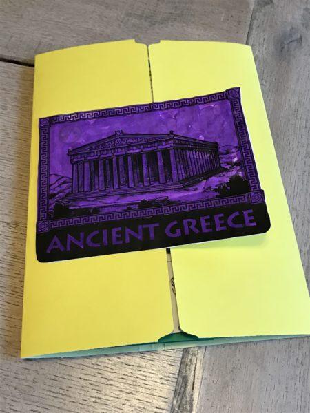 Our Ancient Greece lap book unit study.