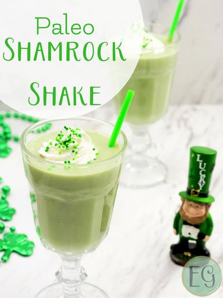 paleo shamrock peppermint shake recipe