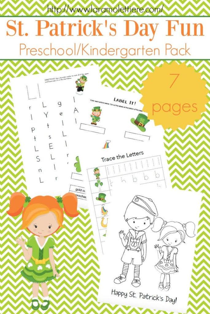 free saint patricks day preschool pack