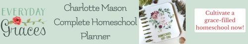 charlotte mason complete homeschool planner