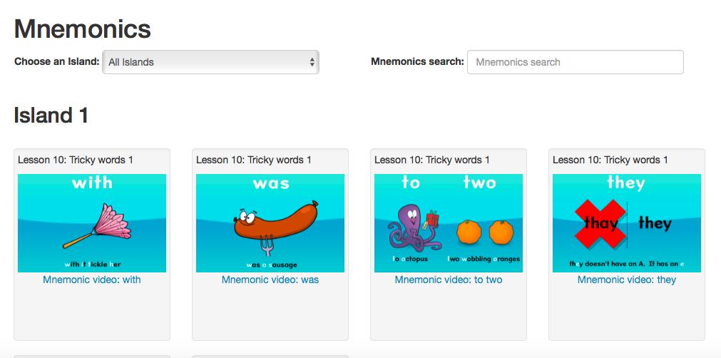 Nessy mnemonics for spelling