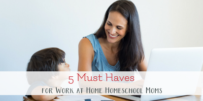 5 Must Haves for Successful Working Homeschool Moms