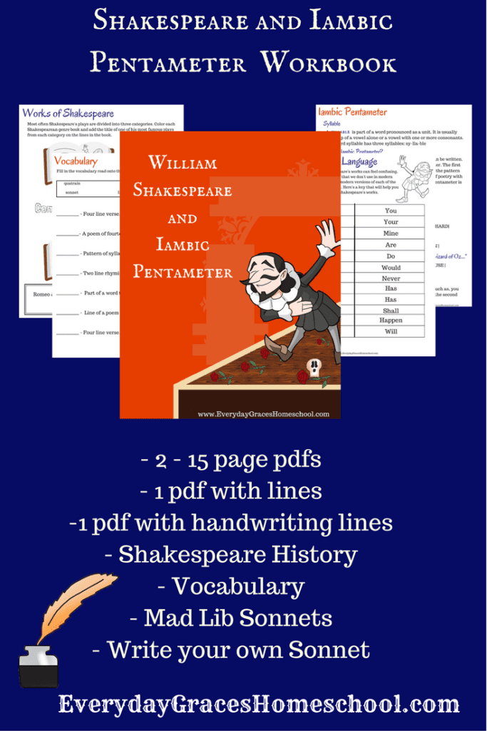 Shakespeare and Iambic Pentameter for Elementary Kids