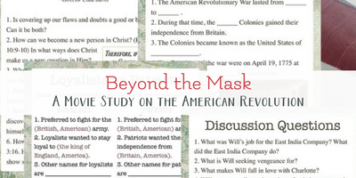Beyond the Mask – American Revolutionary War Study