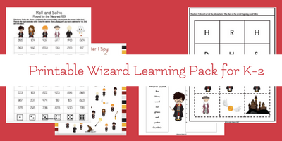 5 Days of Harry Potter – K-2 Harry Potter Inspired Learning Fun