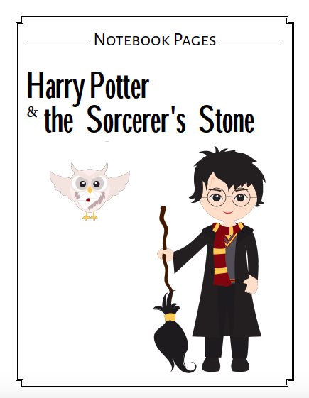 Harry Potter inspired note booking pages to use with the Harry Potter series.