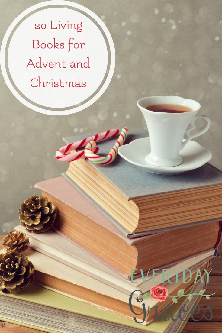A Charlotte Mason homeschool reading list to keep your family learning through living books through the Advent and Christmas season. #christmas#charlottemason