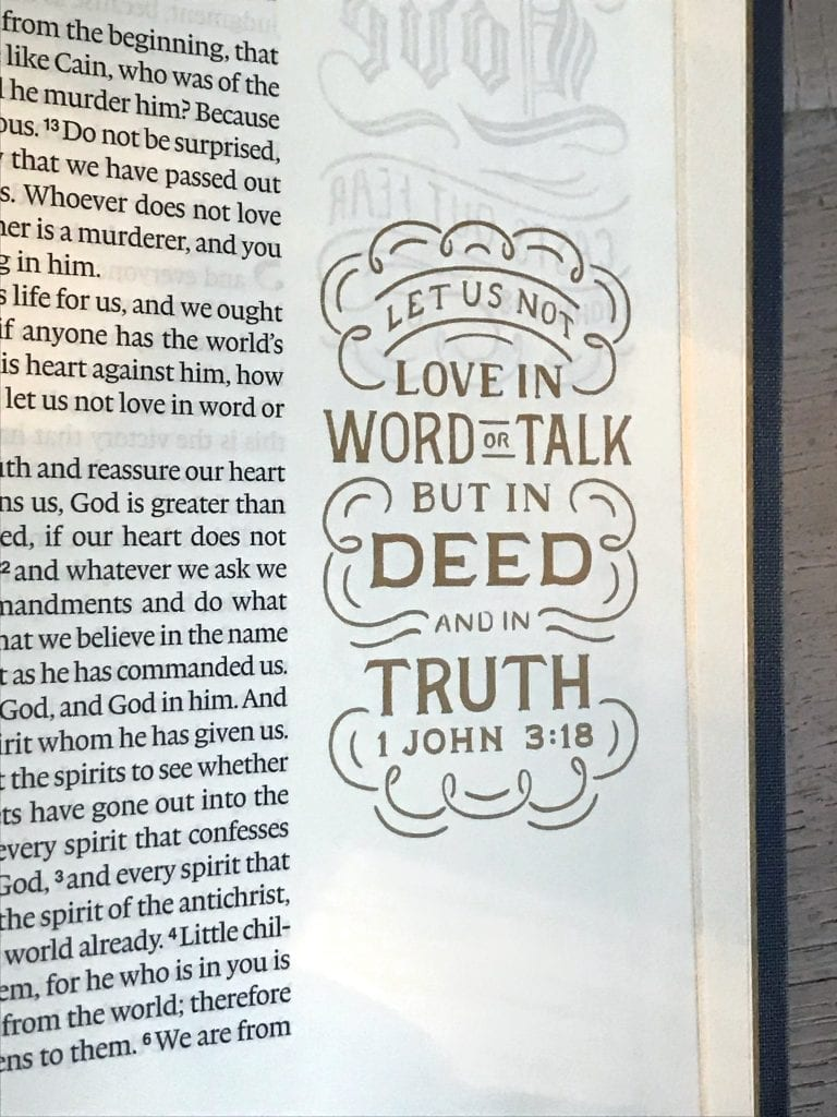 ESV illuminated Bible for gift giving.