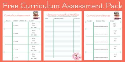 free curriculum assessment pack