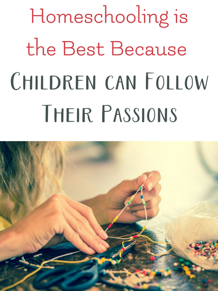 homeschooling children follow their passions
