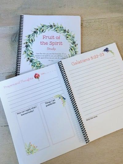 galatians scripture journal printable