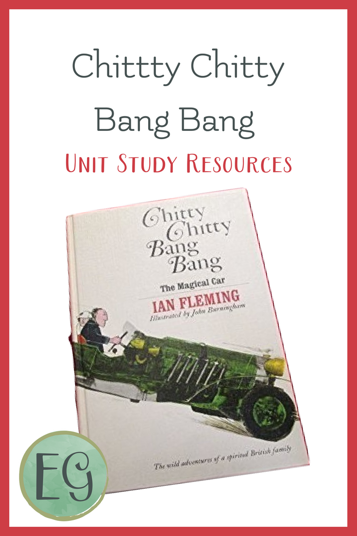 Free unit study resources for Chitty Chitty Bang Bang, a fantastic piece of fantasy literature sure to engage your children. #everydaygraces #homeschool