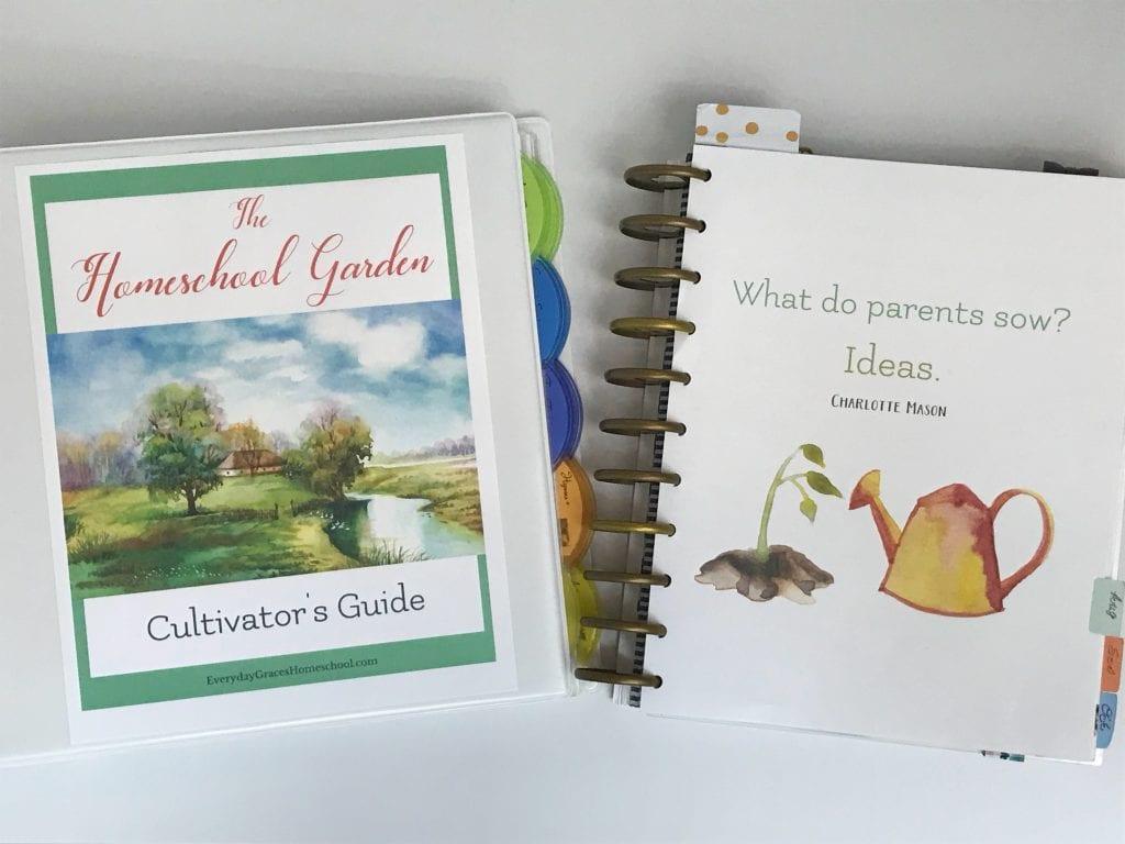 the homeschool garden morning time binder and charlotte mason planner