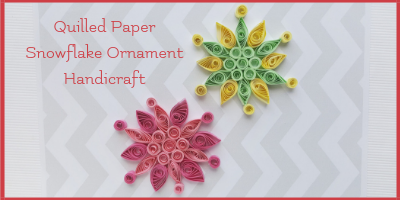 Quilled Paper Snowflake Ornament Handicraft