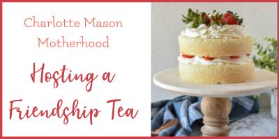 A Homeschool Mom Friendship Tea and giveaway!