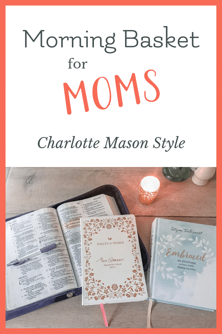 how to create a morning basket routine for mom