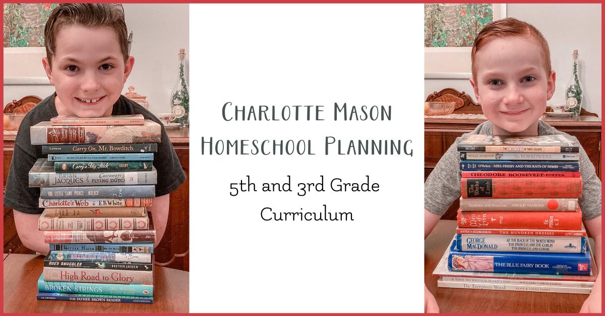 Charlotte Mason homeschool curriculum 5th 3rd grade